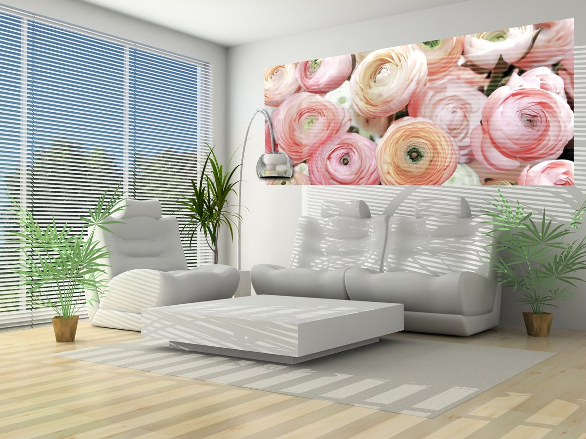 Flowers Peonies Colours Photo Wallcovering kopen