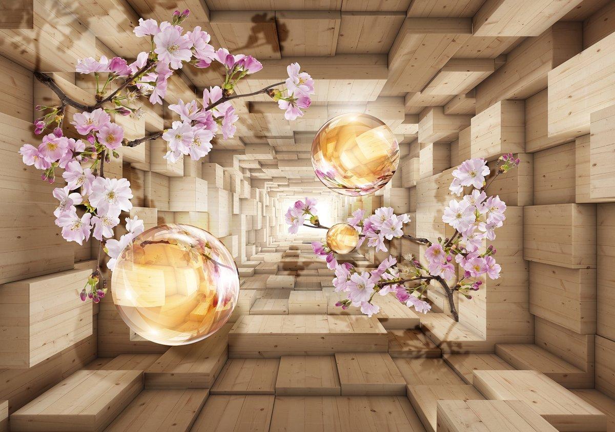 Flowers Inbetween Plankets Photo Wallcovering kopen
