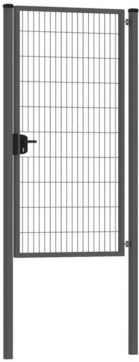 Enkele tuinpoort 100 x 200 cm (bxh) Antraciet RAL7016 premium kopen