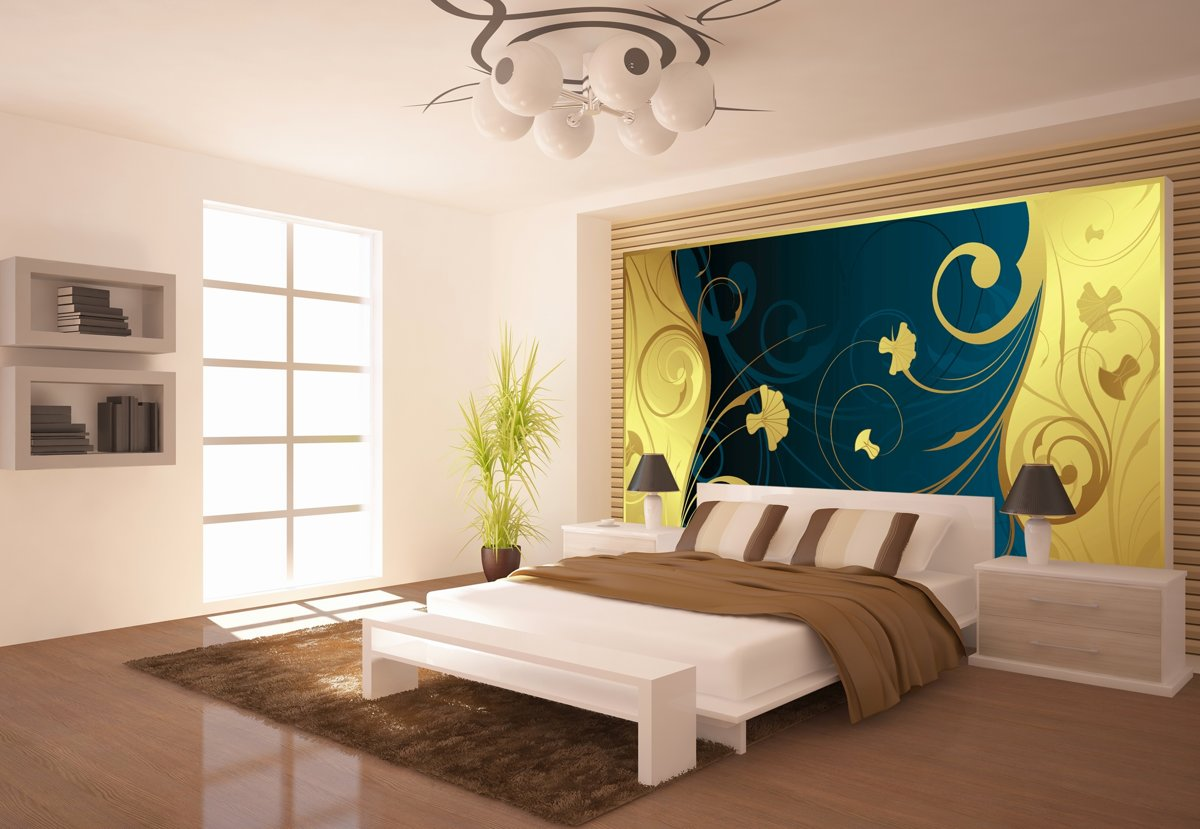 Flowers Abstract Photo Wallcovering kopen