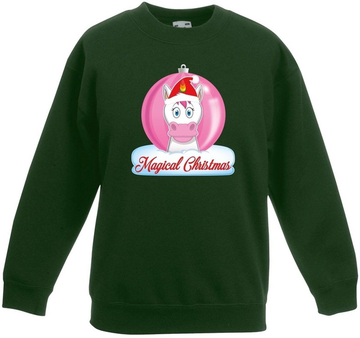 Kersttrui met roze eenhoorn kerstbal groen voor meisjes 14-15 jaar (170/176) kopen