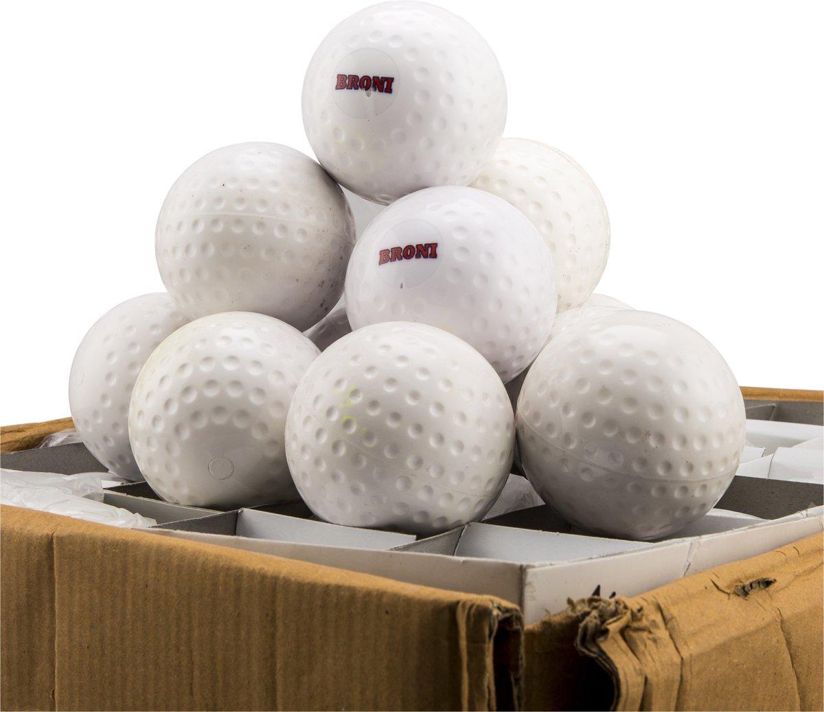 Hockeyballen Broni Dimple - wit - 120 stuks kopen