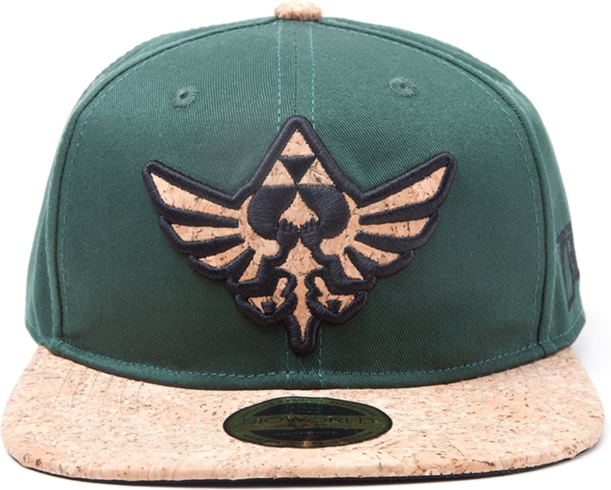 Zelda - Cork Triforce Logo and Cork Bill - Pet - Snapback - Groen kopen