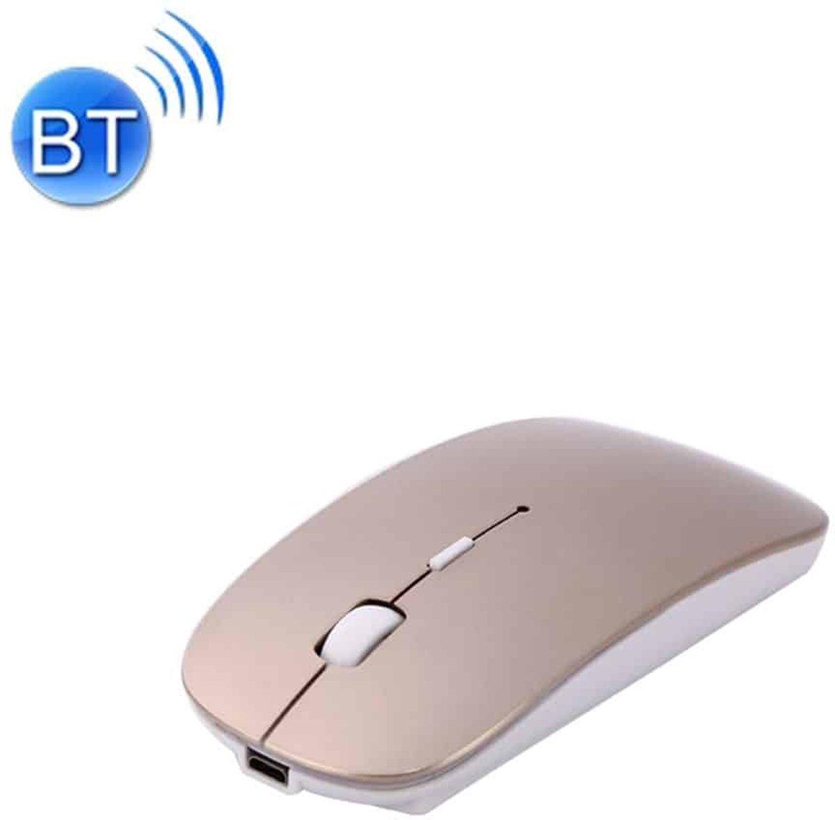 MC-008 Bluetooth 3.0 batterij Draadloze muis opladen voor laptops en Android-systeem Mobiele telefoon (goud) kopen