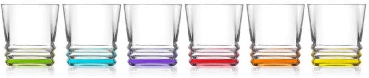 Lav gekleurde whiskyglazen 315ml (6 stuks) kopen