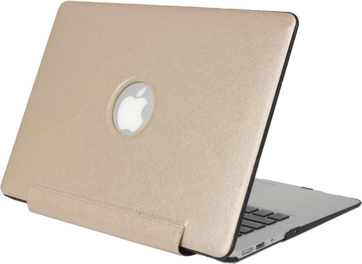 MacBook Pro 13.3 inch Zijde structuur beschermende Cover (goudkleurig) kopen