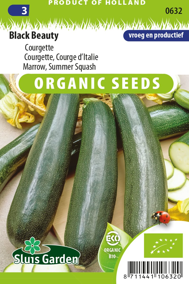 Sluis Garden - Courgette Black Beauty Biologisch kopen