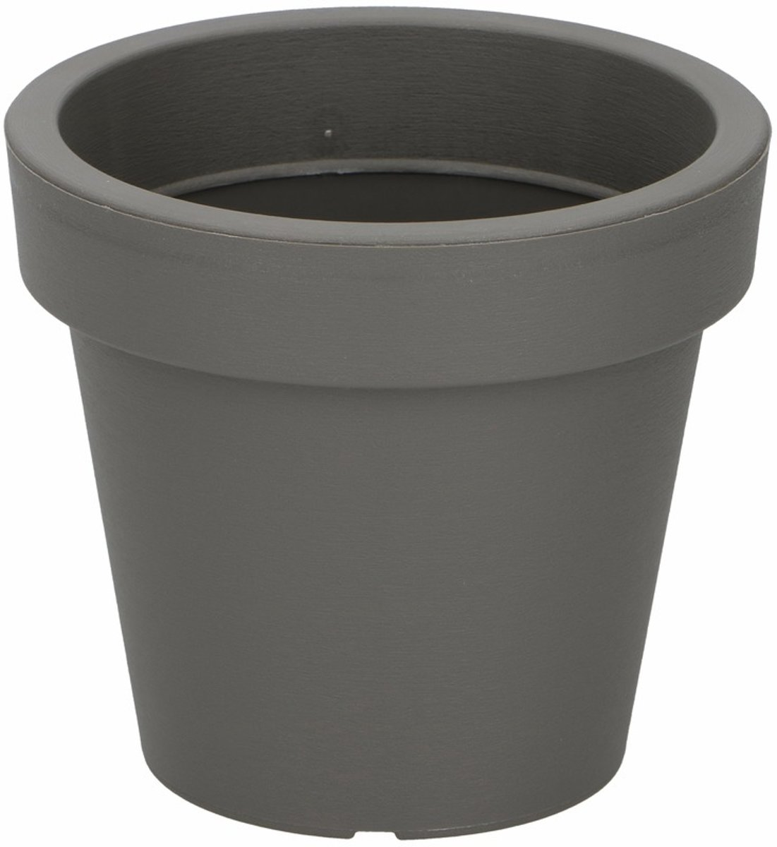 Kunststof bloempot grijs 13 cm kopen