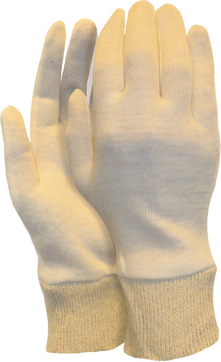 Handschoen universeel met manchet 100 % katoen - herenmaat - L/XL - set à 12 paar kopen