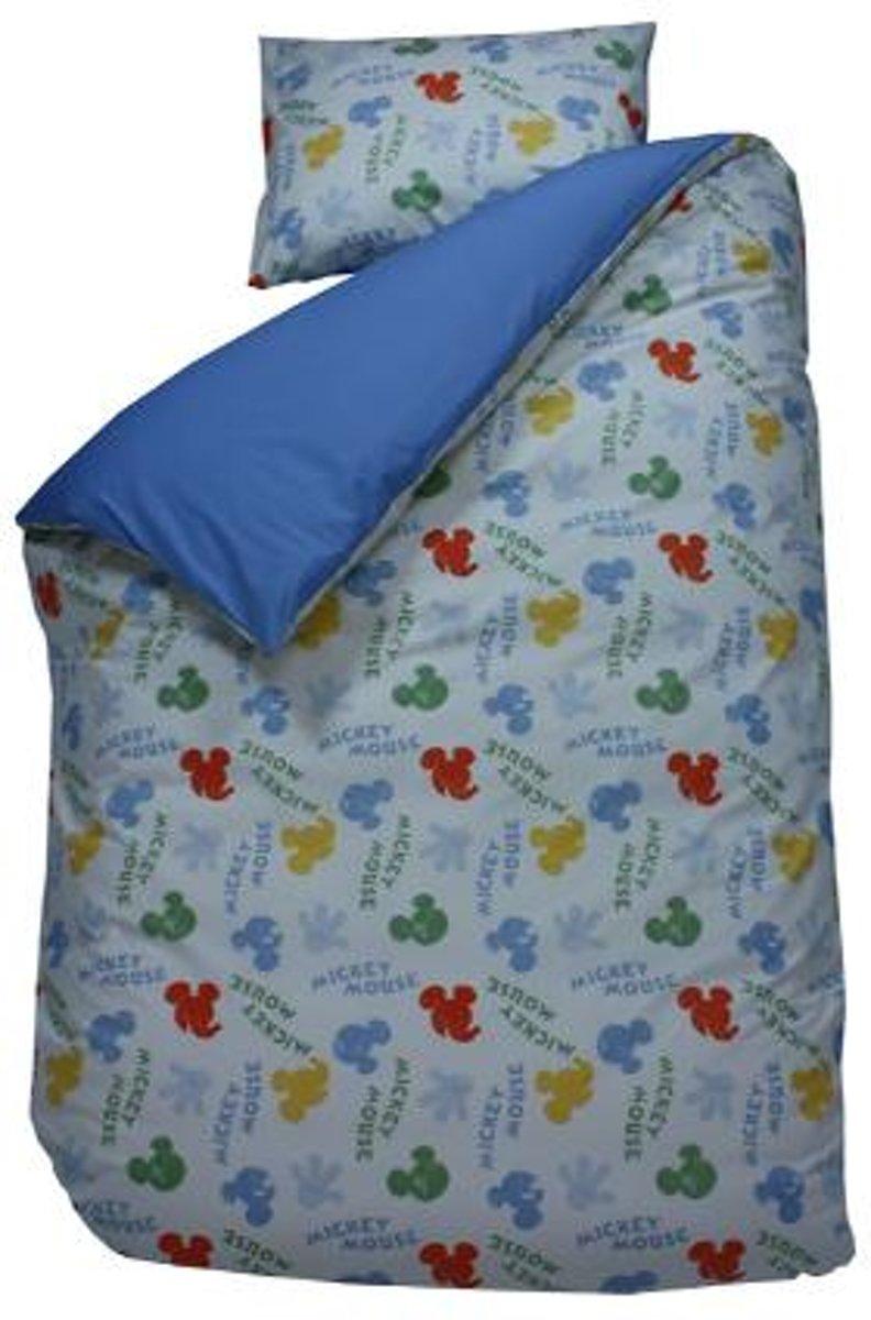 Disney Mickey Mouse - Dekbedovertrek - Eenpersoons - 140x220 cm - Blauw kopen