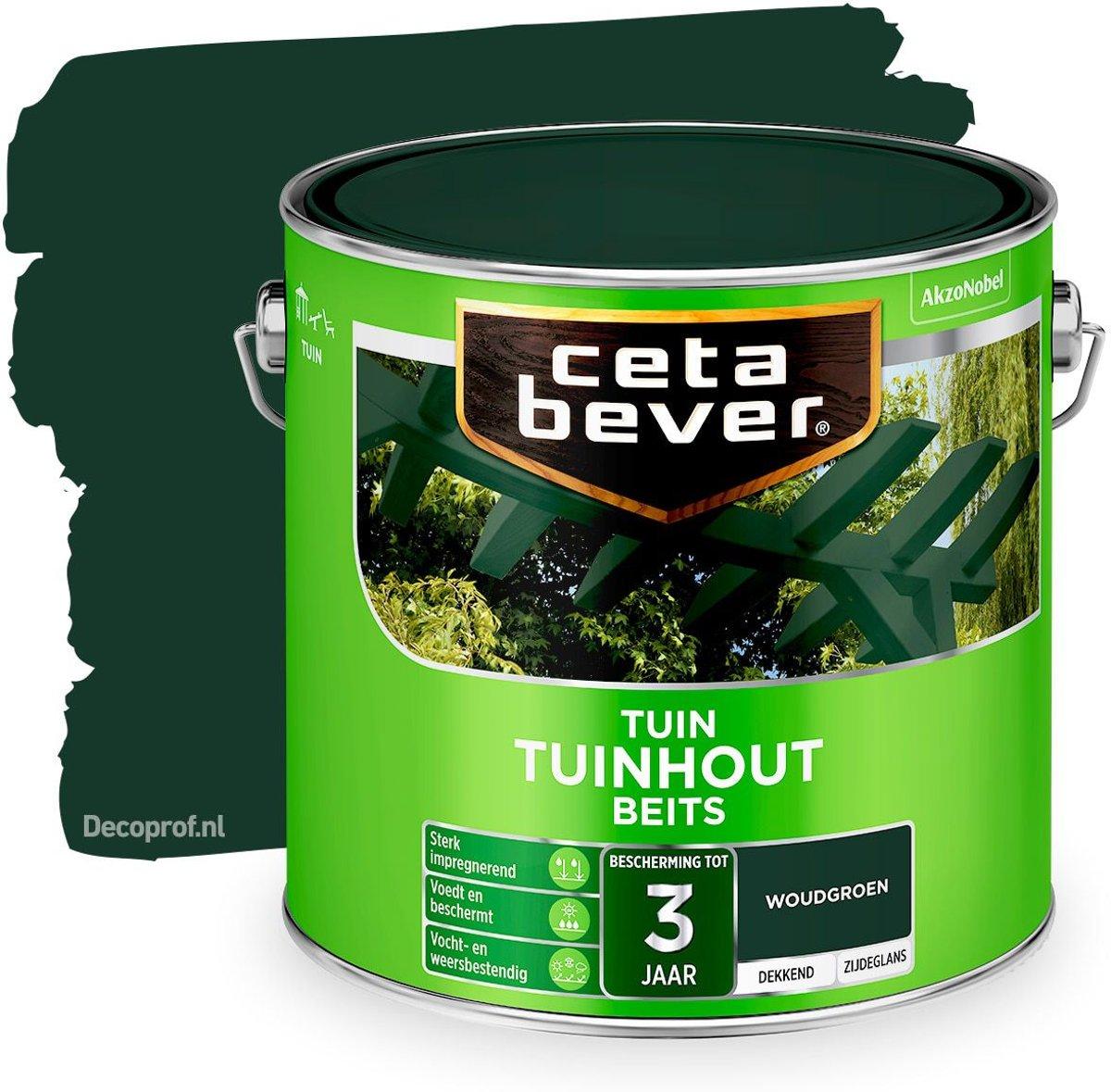 Cetabever Dekkend Tuinhout Beits - Woud groen - 2,5L kopen