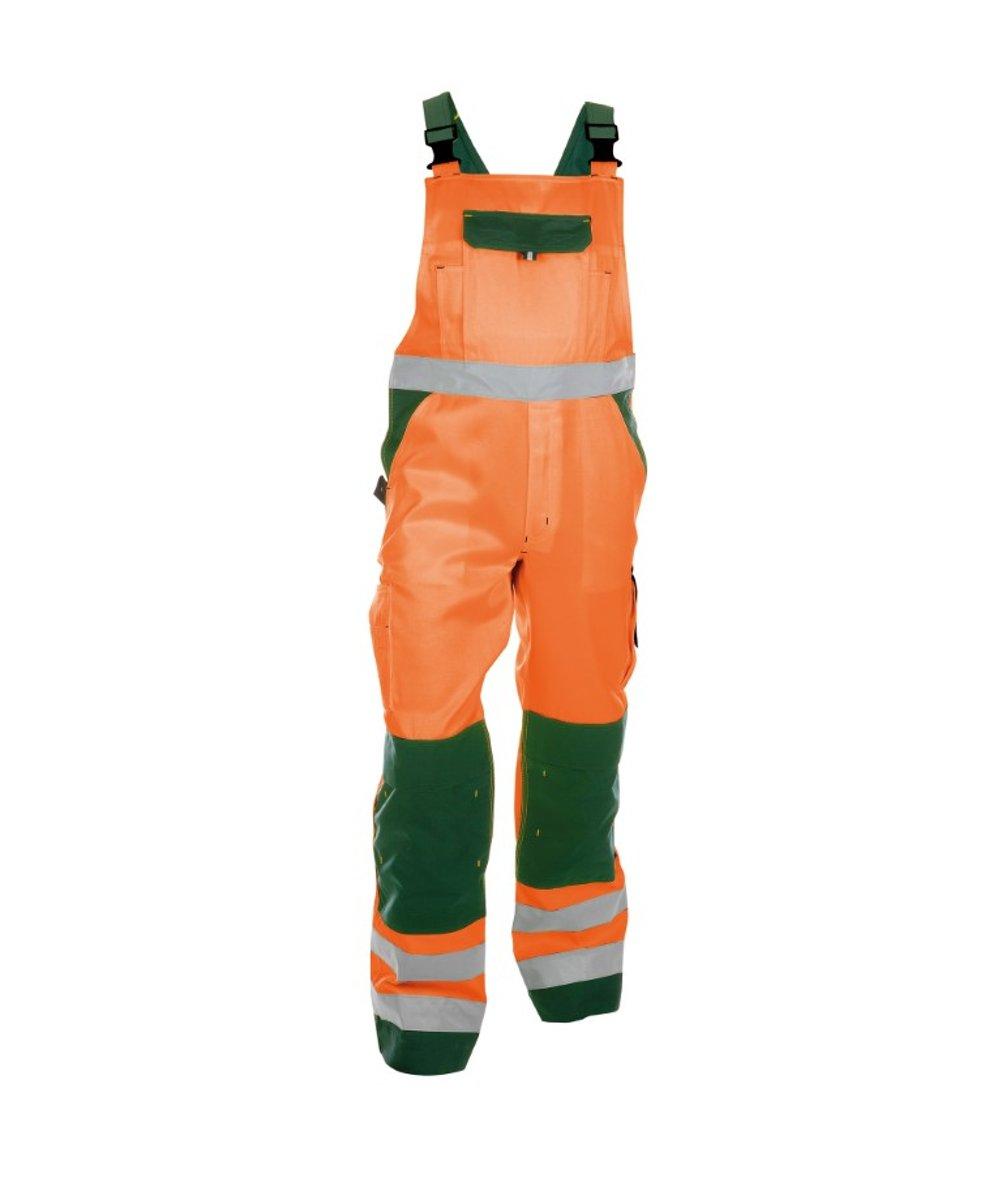 Dassy Profesional Workwear Hoge Zichtbaarheidsbretelbroek Met Kniezakken - Toulouse Fluo-oranje/flessengroen - Mt 62 kopen