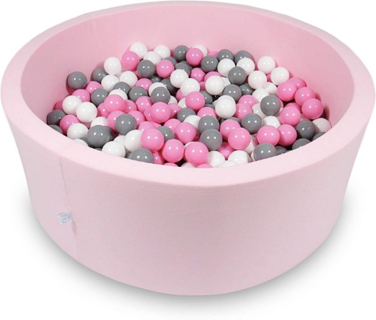 Ballenbak - 500 ballen - 115 x 40 cm - ballenbad - rond roze