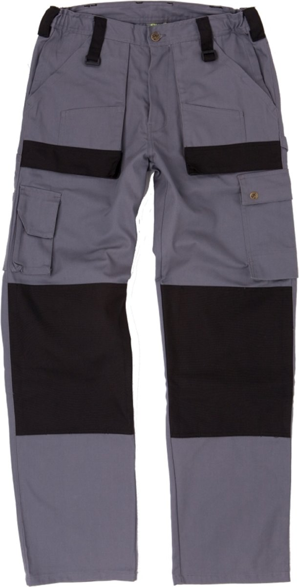 Werkbroek Safeworker Tigris grijs/zwart maat 58 kopen