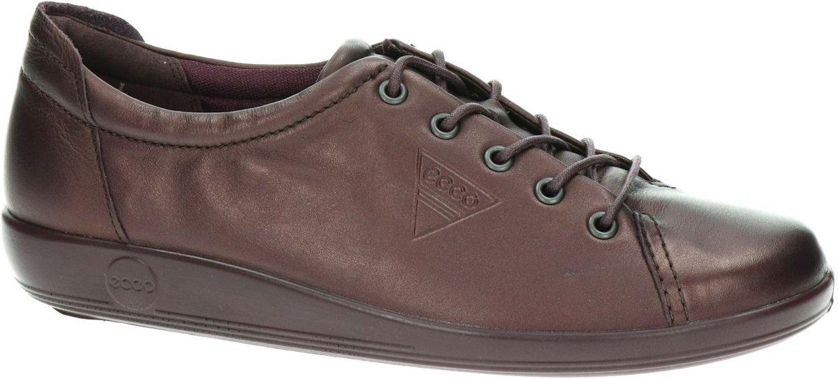 ECCO Soft 2.0 dames sneaker Paars Maat 42