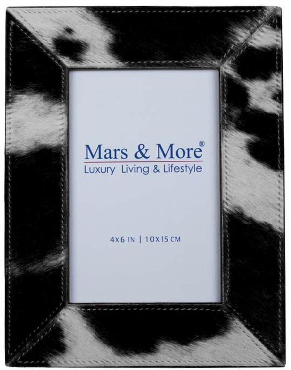 Mars & More Fotolijst Koeienleer Zwart - 10x15cm kopen