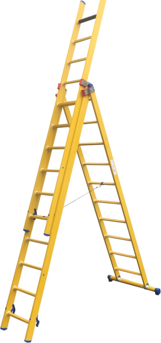 Alumexx Kunststof GVK ladder 2-delig 2x14 kopen