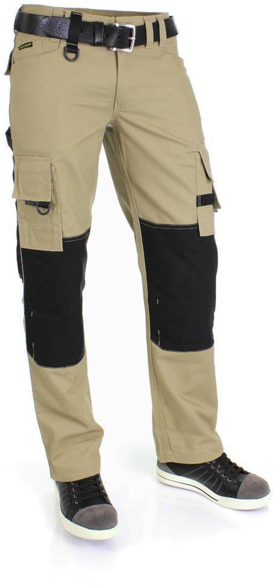 Tricorp worker canvas met cordura - Workwear - 502009 - khaki / zwart - maat 44 kopen