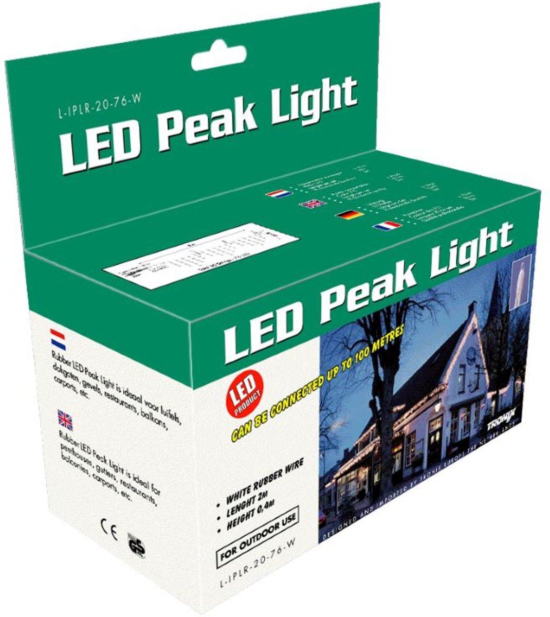 Tronix Kerstverlichting buiten LED ijspegelverlichting wit-warmwit kopen