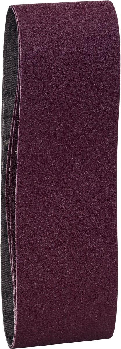 Bosch - 3-delige schuurbandenset voor bandschuurmachines, rode kwaliteit 100, ongeperforeerd, gespannen kopen