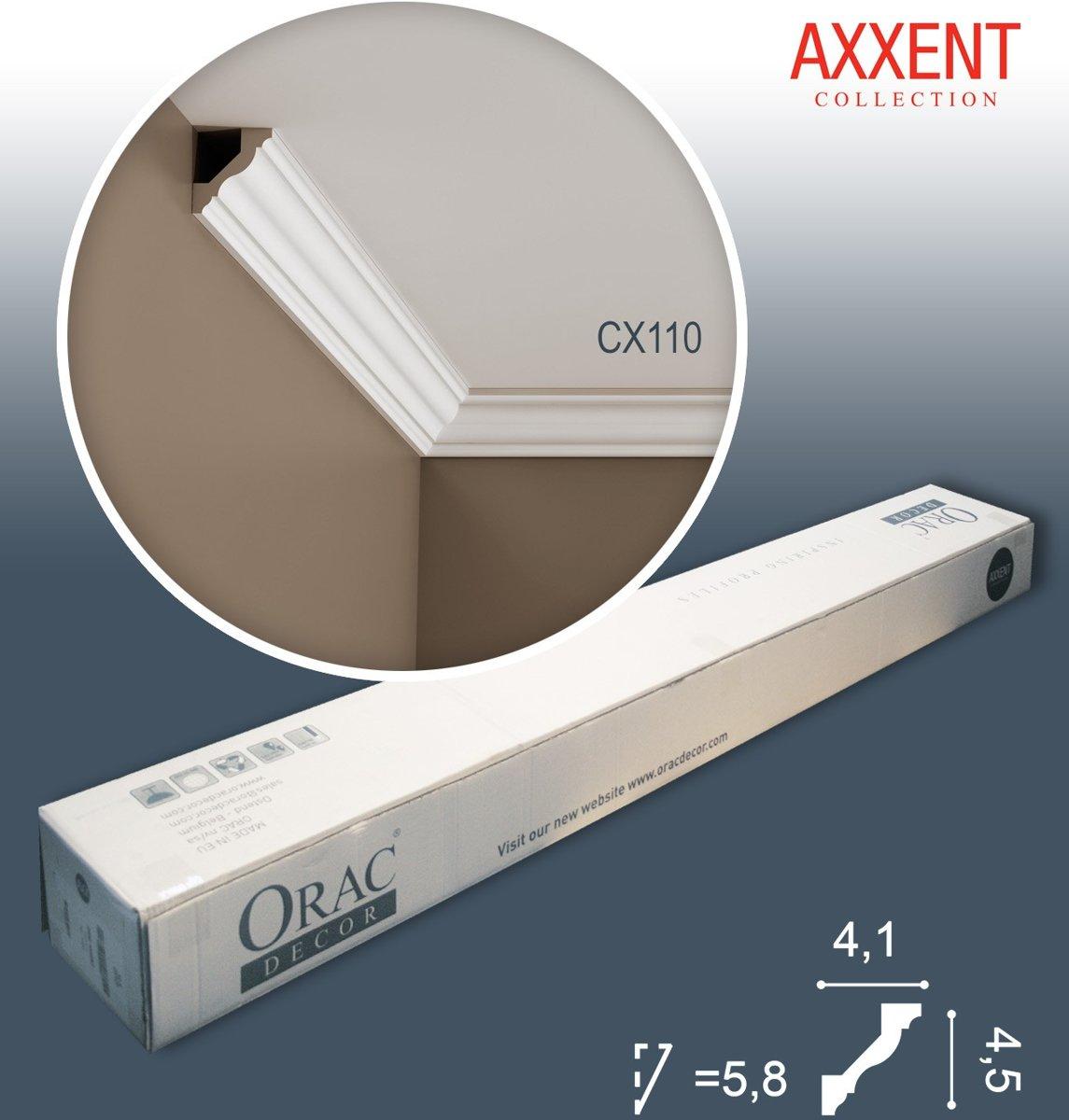 1 doos 10 Kroonlijsten Origineel Orac Decor CX110 AXXENT Plafondlijsten Sierlijsten 20 m kopen