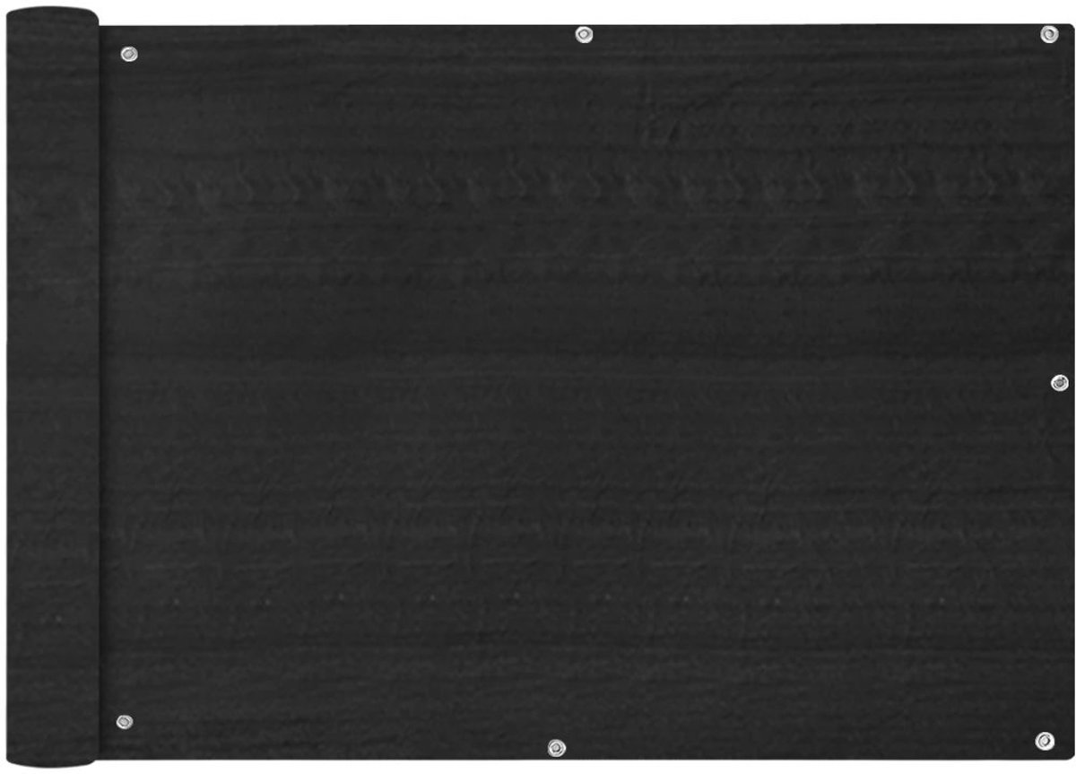 vidaXL Balkonscherm HDPE 75x600 cm antraciet kopen