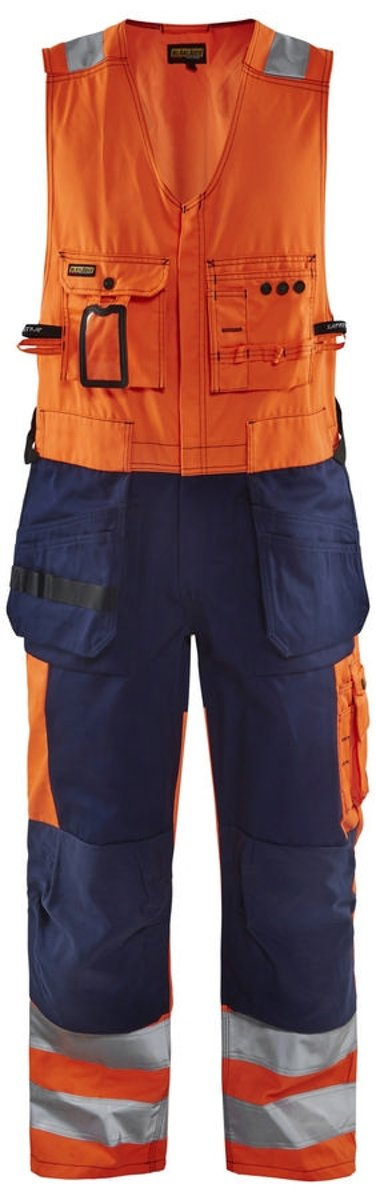 Blåkläder 2653-1804 Amerikaanse overall High Vis Oranje/Marineblauw maat 44 kopen