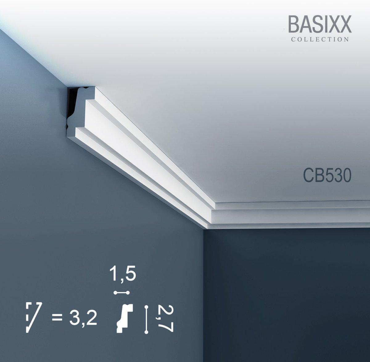 Kroonlijst Origineel Orac Decor CB530 BASIXX Plafondlijst Sierlijst 2 m kopen
