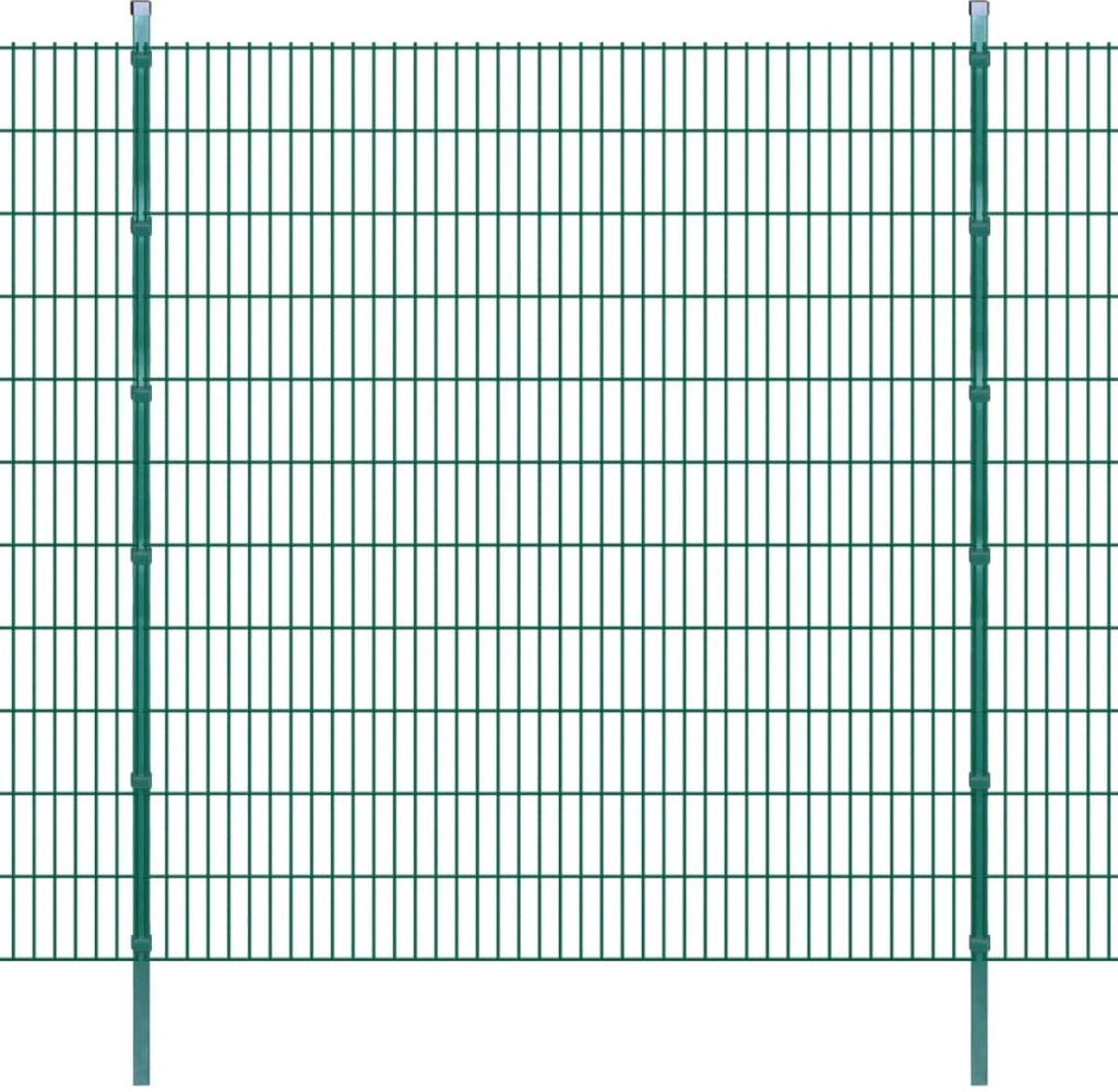 vidaXL Dubbelstaafmat 2008 x 2230 mm 4 m groen 2 stuks kopen