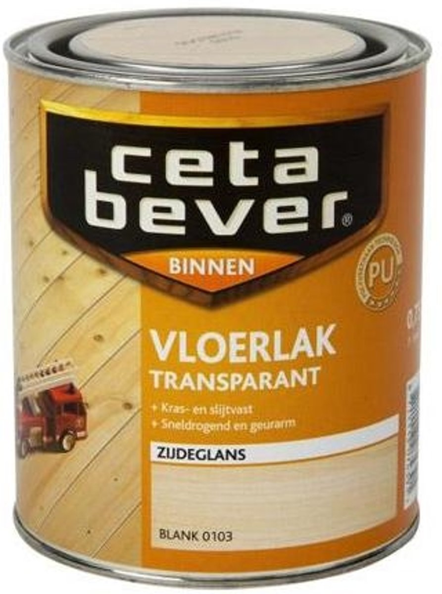 Cetabever Vloerlak Transparant Acryl 0.75 L 0103 Blank kopen