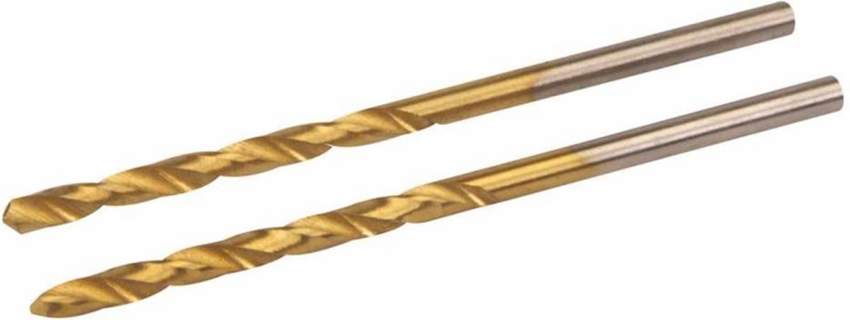 HSS boor met titanium coating, 2 Stuks 2,5 mm kopen