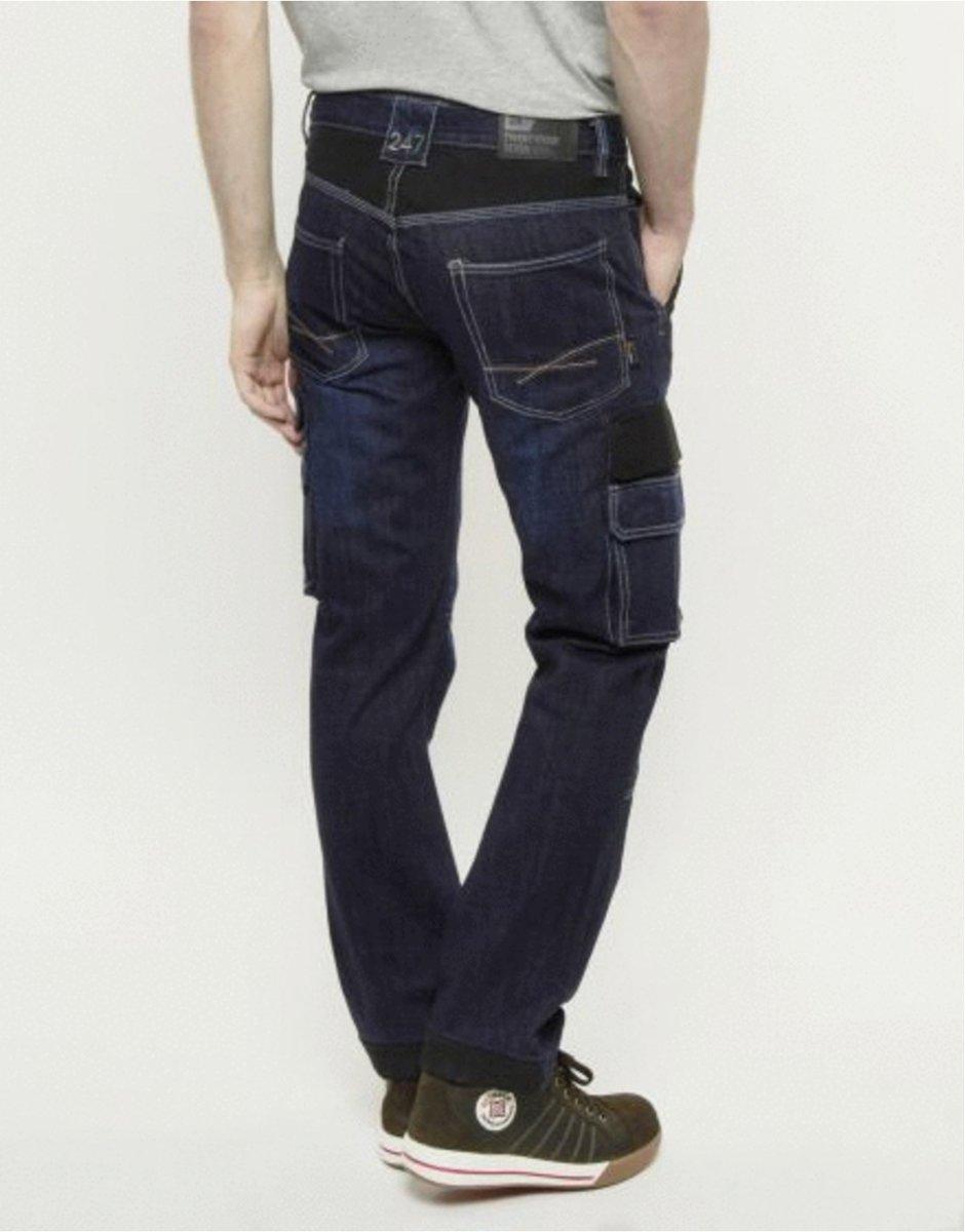 247 Jeans Spijkerbroek Grizzly D30 Donkerblauw - Werkkleding - L32-W36 kopen