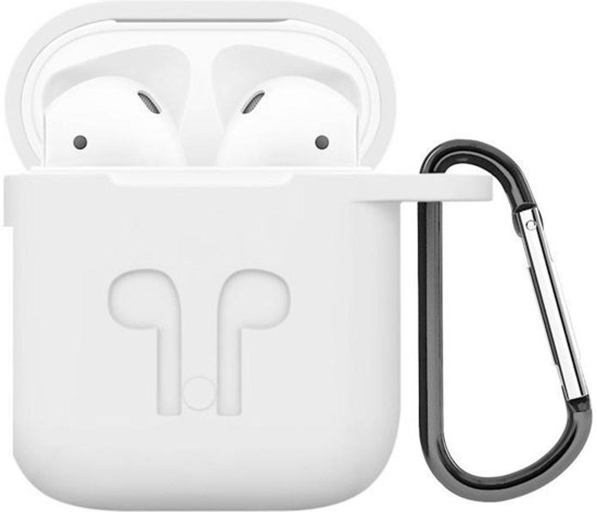 Airpods hoesje - geschikt voor Apple Airpods - Wit kopen