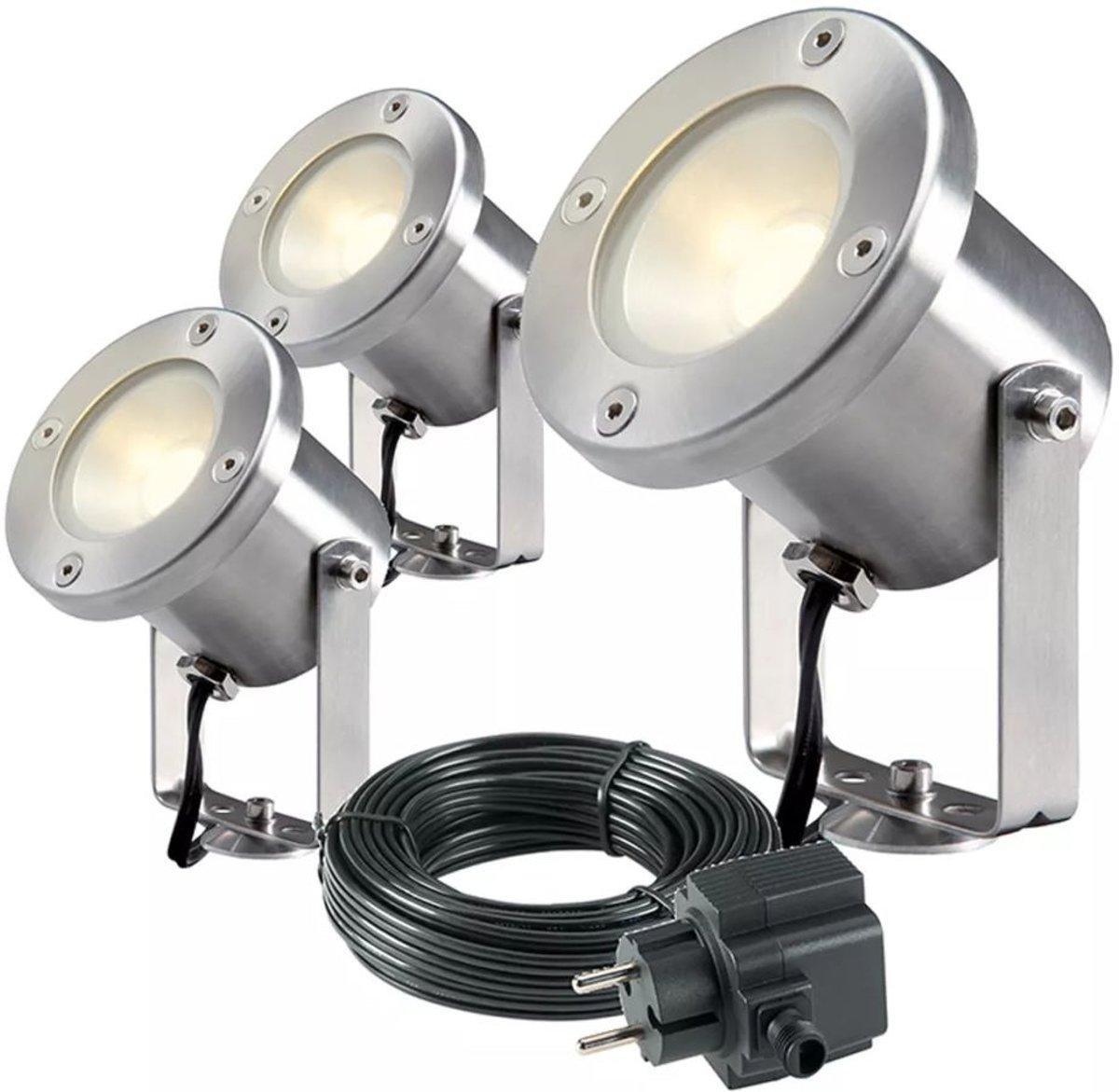 Garden Lights LED-spotlight Catalpa RVS 3 stuks 4121603 kopen