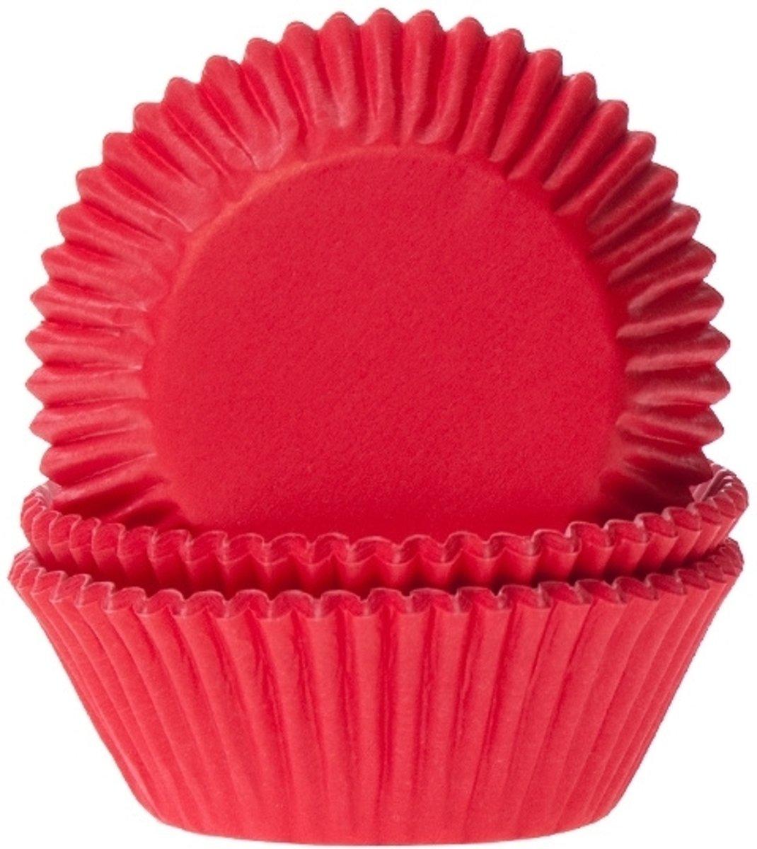 Cupcake Cups Dieprood 50x33mm. 50st. kopen