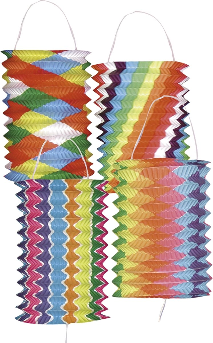 240 stuks: Lampion Brightness 4 assorti - 13cm kopen