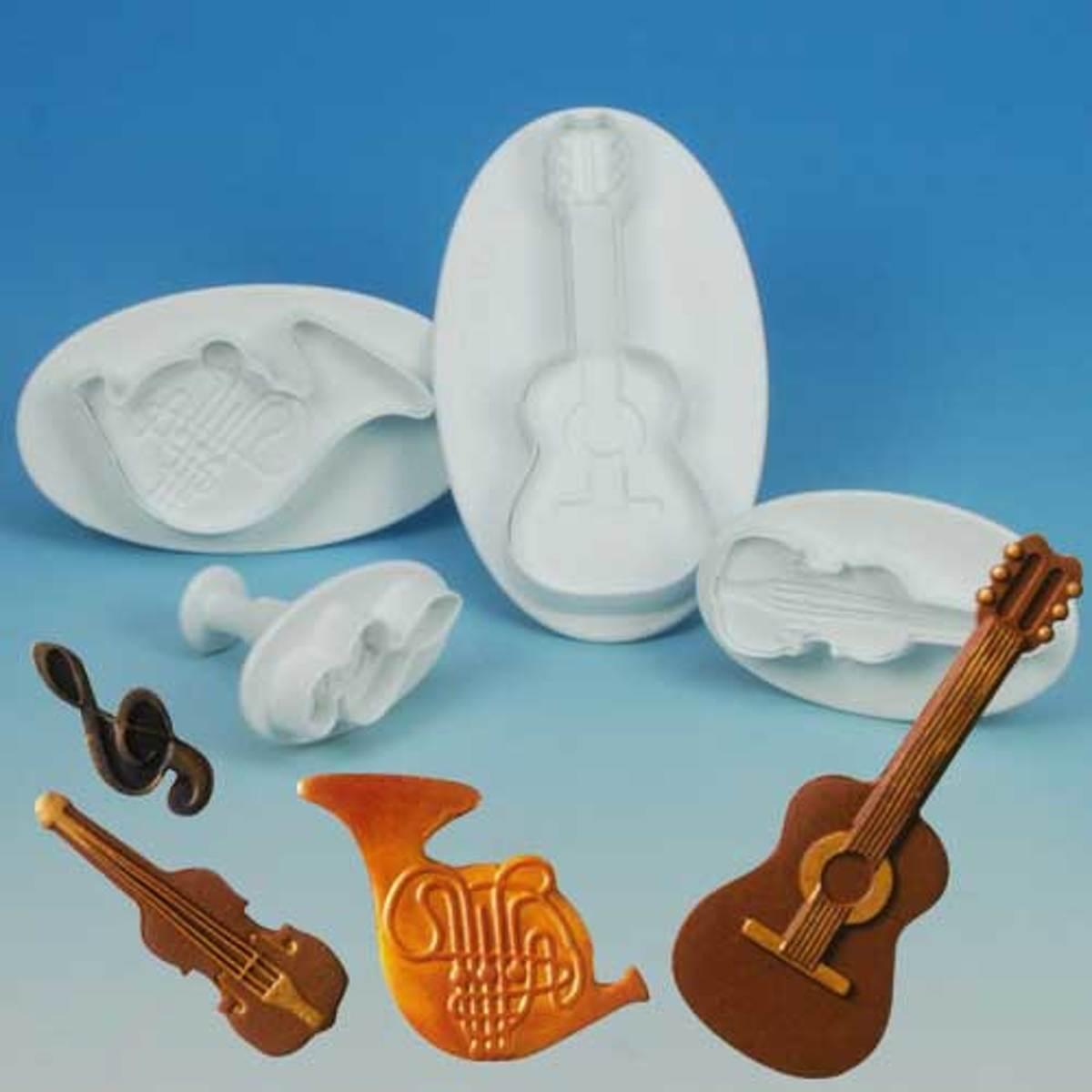 """Martellato uitstekerset """"Muziek instrumenten"""" - 4 stuks per set kopen"""