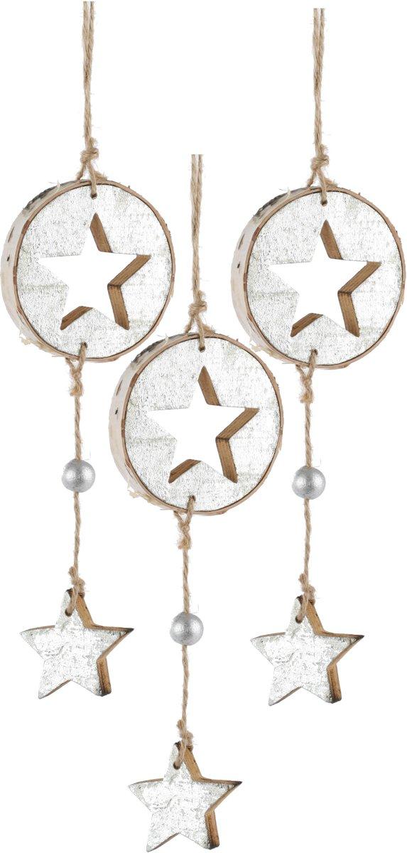 Kerstboomhanger Ster Silver (23 cm) 3 Stuks kopen