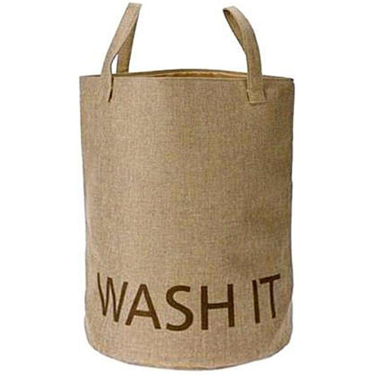 Waszak stof met handvatten bruin kopen