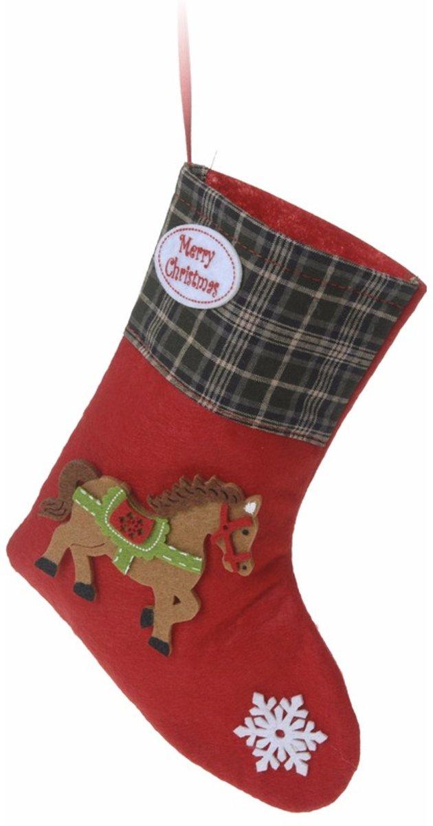Kerstcadeau kerstsok rood voor je paard type 1 20 cm kopen