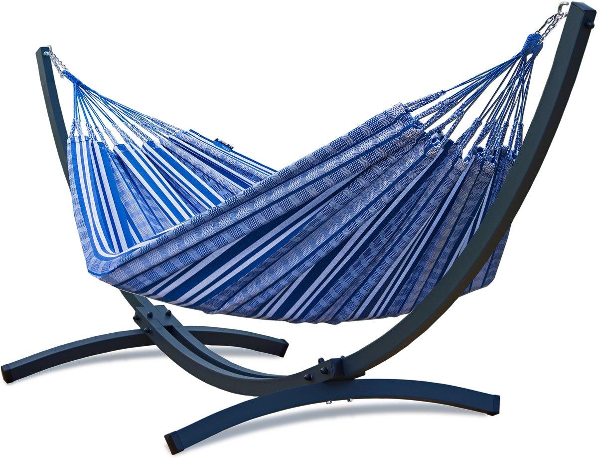 Potenza Titanium Sky: onverwoestbare verzinkte hangmatset 2 personen / familie hangmat met standaard draagkracht -350 kilo kopen