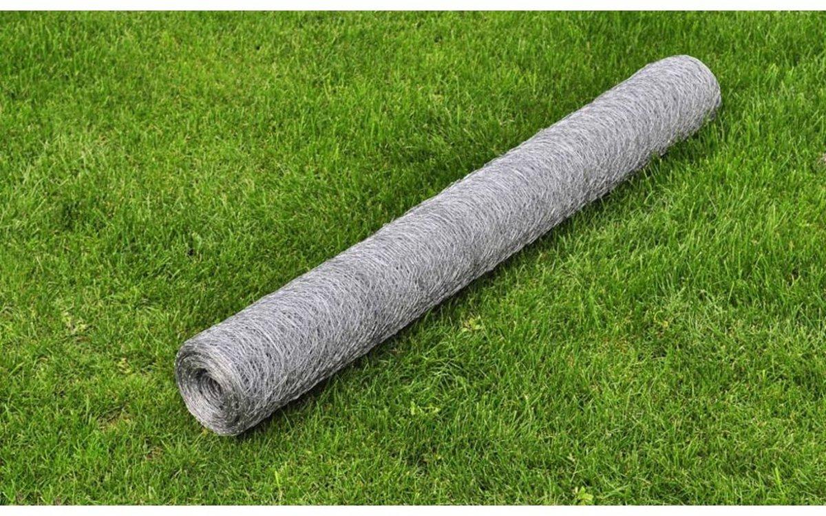 vidaXL - Tuingaas 140423 Zeshoekig verzinkt gaas 1 m x 25 m / maaswijdte: 13 mm kopen