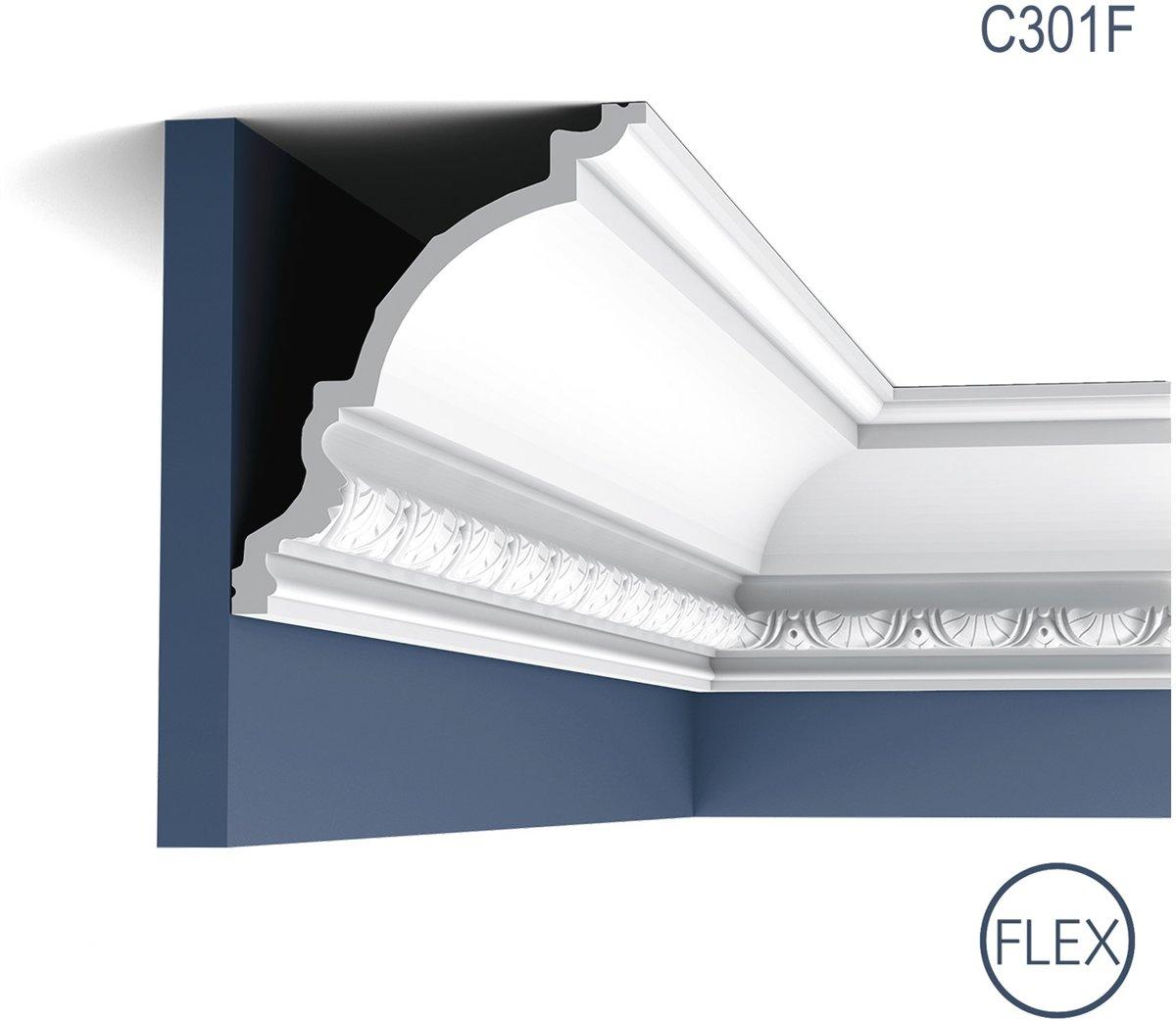 Kroonlijst flexibel Origineel Orac Decor C301F LUXXUS Plafondlijst Sierlijst flexibel 2 m kopen