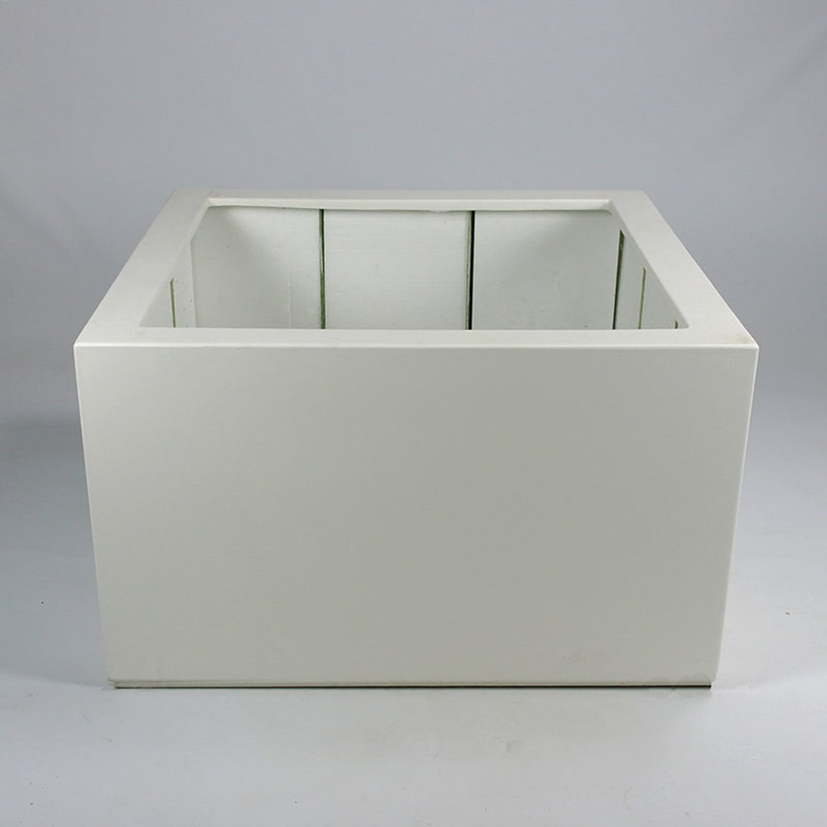 Vierkante polyester plantenbak wit 80 x 60 cm kopen