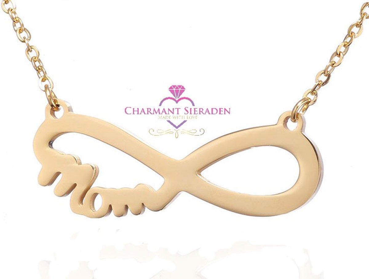 Ketting infinity Mom Gold - mama hanger - infinity ketting -  moederdag cadeau kopen