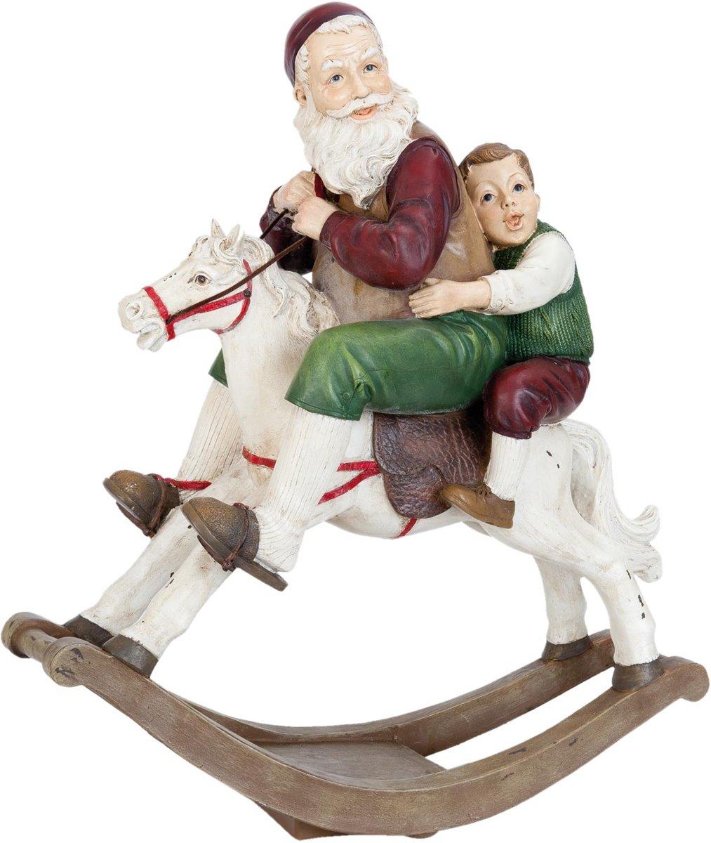 Kerstman & kind op hobbelpaard   6PR0947   Clayre & Eef kopen