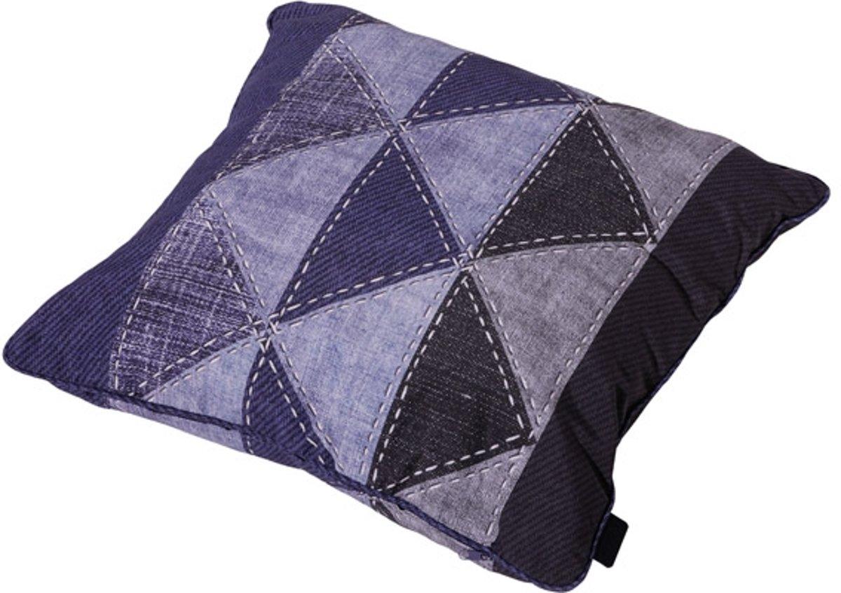 Madison sierkussen - 50x50 cm - Triangle Blue kopen