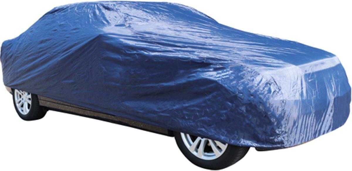 Carpoint Polyester Autohoes Maat L - Afdekhoes - Beschermhoes Auto - 470x175x120cm - Blauw kopen