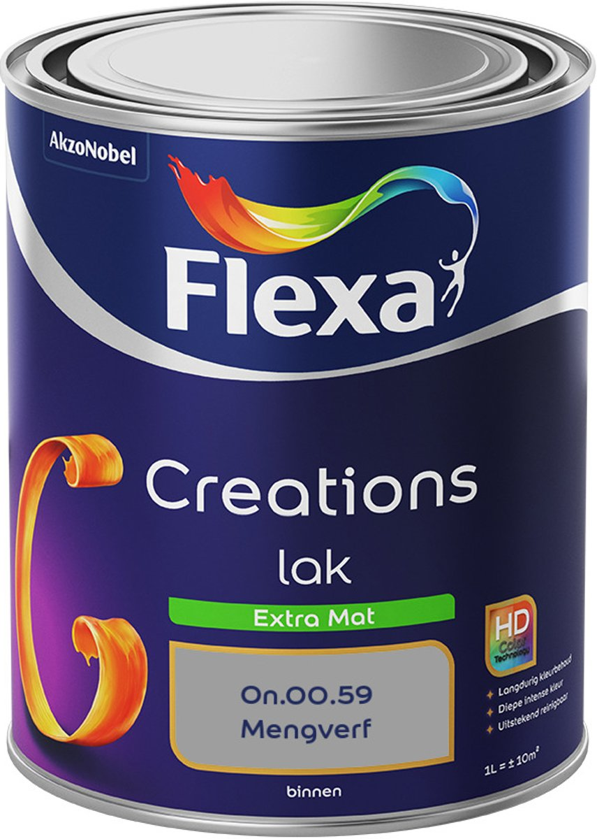 Flexa Creations - Lak Extra Mat - Mengkleur - On.00.59 - 1 liter