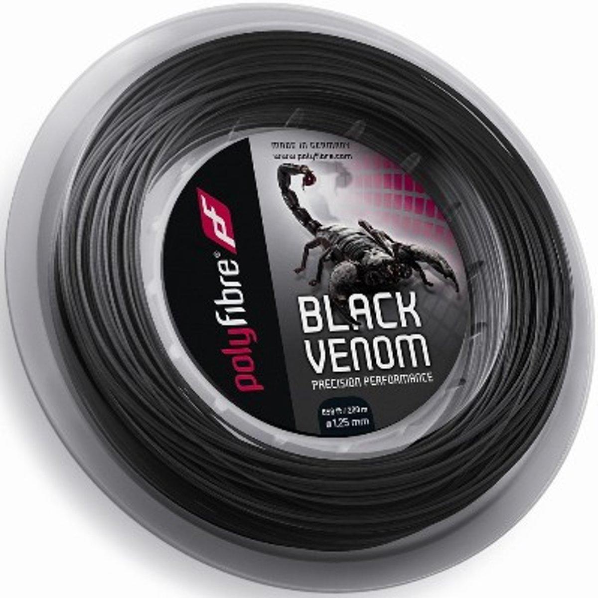 Polyfibre Black Venom 200 m. tennissnaar 1.20 mm. kopen